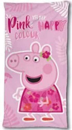 Wizarding World Toalla de Baño Playa Piscina Cerdita Peppa Pig - Pink is my Happy Colour 140 x 70 cm, FC-PEP040