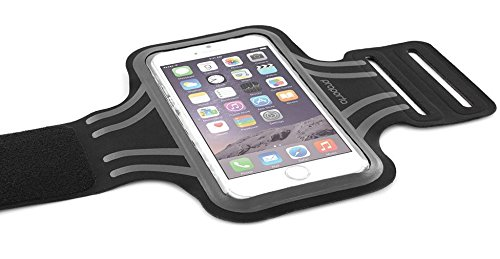 proporta - Fascia da Braccio, da Corsa, per iPhone 6 4,7', Misura Media Compatibile con Samsung Galaxy S5/S4. Nero/Grigio/Nero