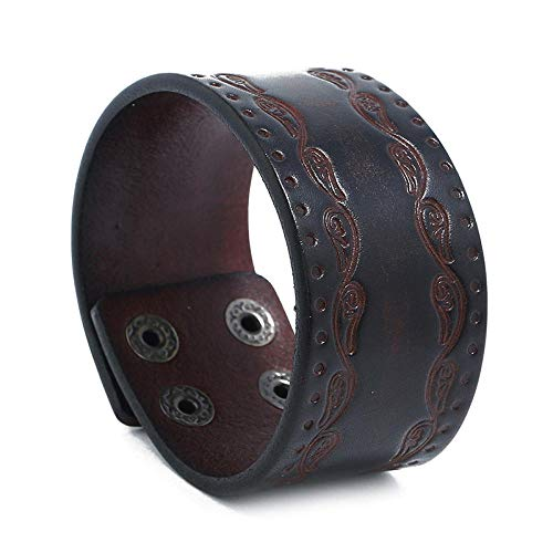 Femme Mâle Fait Main Bracelet Bracelet en Cuir Bracelet Aiguiser Bracelet Rétro Bracelet Taro Punk