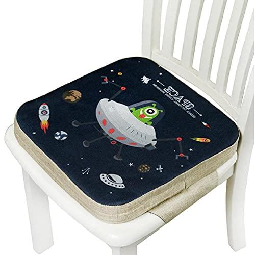 Mcbeitrty Asiento elevador para niños, silla de comedor para niños, cojín desmontable ajustable, fácil de limpiar