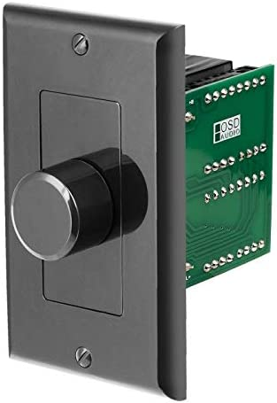 OSD Audio 100W in Wall Home Theater Speaker Volume Control Black Knob Style SVC100 product image