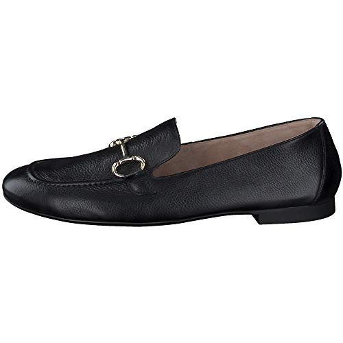 Paul Green Damen SUPER Soft Loafer 2596, Frauen Slipper, geschäftsreise büro schlupfhalbschuh Slip-on College Schuh Loafer Lady,Black,5 UK / 38 UK