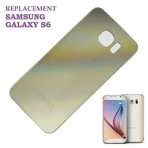 swark Akku Deckel Backcover Kompatibel mit Samsung Galaxy S6 G920F G920 Gold Akkudeckel