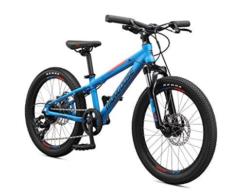 Mongoose Switchback Kids Mountain Bikes with 20-Inch or 24-Inch Wheels, Aluminum Hardtail Frame, 8-Speed Drivetrain, and Mechanical Disc Brakes