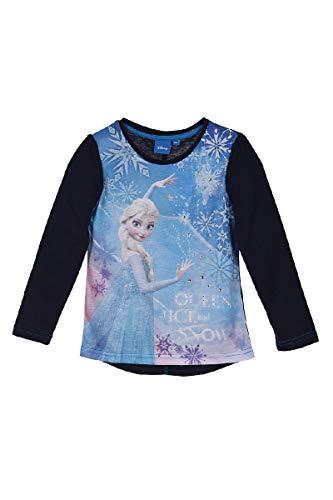Eiskönigin Mädchen Langarmshirt (Blau, Größe 110)