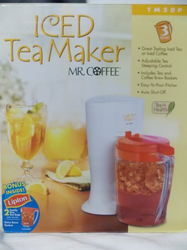 Mr. Coffee 3-Quart Iced Tea or Coffee Maker for Loose or Bagged Tea/Coffee, Red