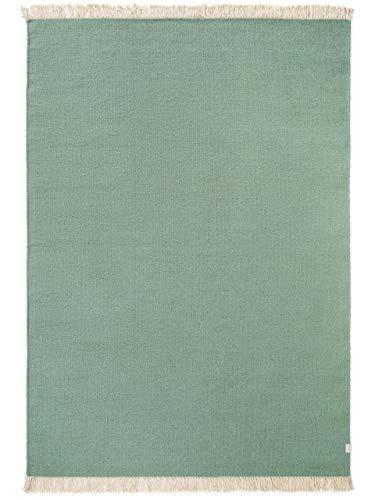 Benuta Wollteppich Liv Hellgrün 200x300 cm - Naturfaserteppich aus Wolle