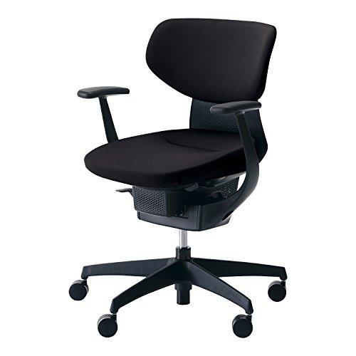 コクヨ イング イス ブラック クッションタイプ デスクチェア 事務椅子 座面が360°動く椅子 CR-G3201E6G4B6-VN