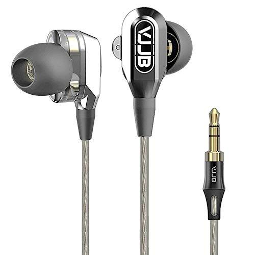 iXing VJJB V1 Doppeltreiber-Ohrhörer mit hochfestem Kabel, geräuschisolierende In-Ear-Kopfhörer V1
