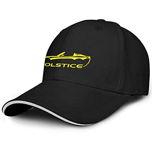Xmbmkj Po-ntiac- So-lstice- Convertible Men Women Novelty Sandwich Trucker Hat Sports Cap Snapback Adjustable