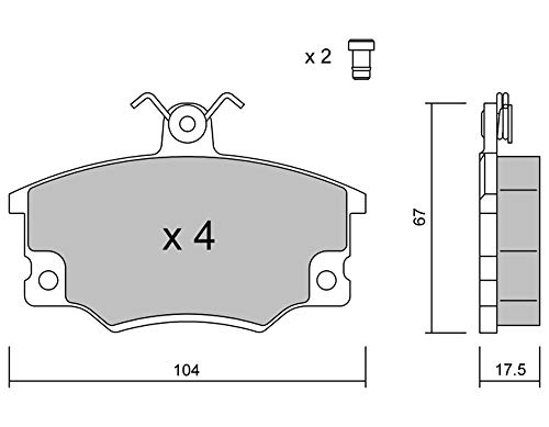 metelligroup 22-0030-1 - Bremsbeläge, Made in Italy, Ersatzteile für Autos, ECE R90-zertifiziert, Kupferfrei
