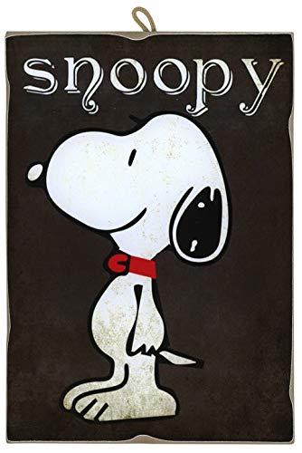 KUSTOM ART Cuadro de estilo vintage serie cómics Snoopy de colección, impresión sobre madera, fabricado en Italia – Idea regalo