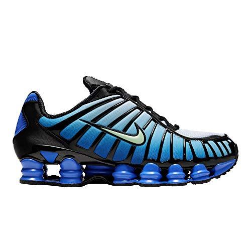 Nike Shox Tl Hombres Negro/Vapor Verde/Racer Azul Zapatos Casual Av3595-009, Azul (Negro/Vapor Green-racer Azul), 42 EU