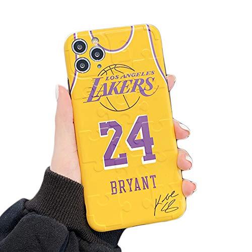 JZWDMD iPhone 11 Pro Max Hülle Kobe Bryant Lakers 24 Basket Sport, ultradünne Silikonhülle TPU Schutzhülle für iPhone 11 Pro Max,A,iPhone X/XS