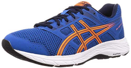 Asics Gel-Contend 5, Chaussures de Running Homme, Bleu (Lake Drive/Shocking Orange 404),...