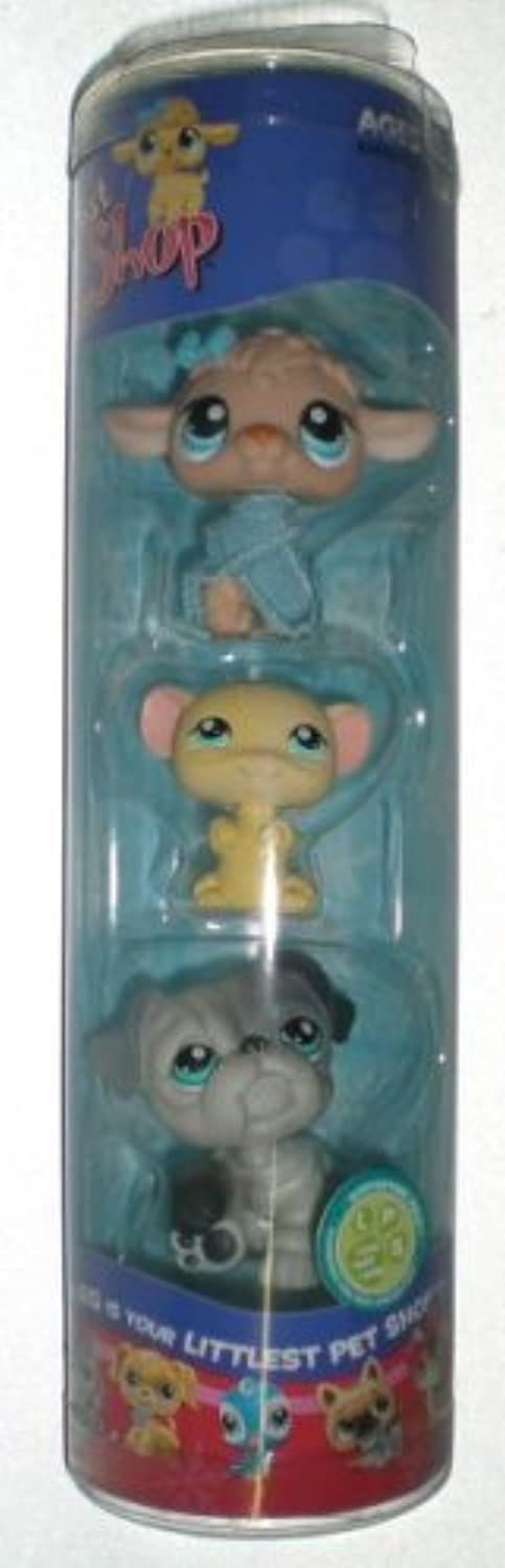 Littlest Pet Shop Winter 3 Pack  Poodle, Hamster, and Pug