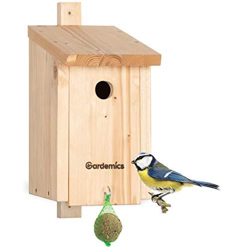Nistkasten – Hochwertiger Vogel Nistkasten nach NABU Vorgaben gebaut – Brutkasten für Vögel - Gefertigt in Einer Deutschen sozialen Werkstatt