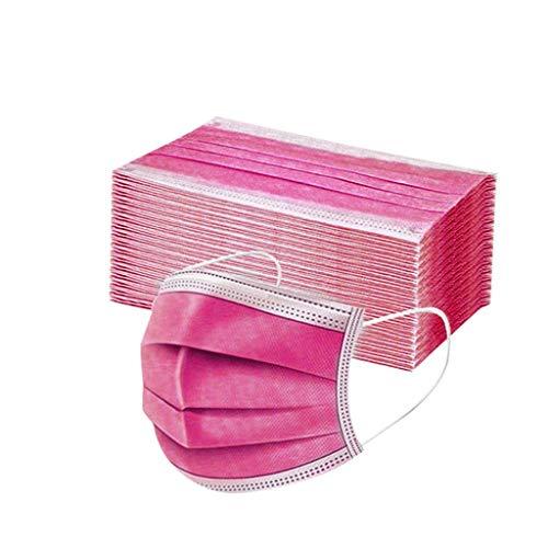 TEGT 50PC Einweg-Mundschutz,Unisex Atemschutz,Gesichtsschutz,Nasenschutz,Seide,Atmungsaktiv,Antibakteriell,Sonnenschutz,Kälte- und Staubdicht,Hohe Filtration