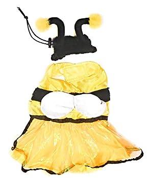 Spooky Village Halloween Bumblebee Pet Dog Costume Dress - Fits Medium Size Dog