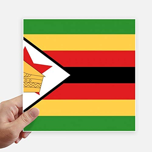 DIYthinker Zimbabwe Nationale Vlag Afrika Land Vierkante Stickers 20 Cm Muur Koffer Laptop Motobike Decal 4 Stks