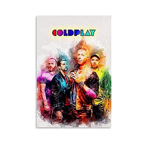 LOPOA Coldplay - Poster da parete con 4 tele da 30 x 45 cm