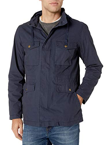 Amazon Essentials Men's Utility Jacket, Navy, Large