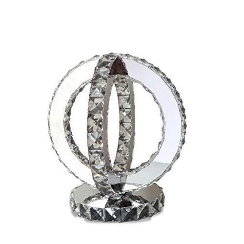 SYM tafellamp, roestvrij staal, eenvoudig, Trendy K9, kristal, moderne stijl, voor slaapkamer, nachtkastje, LED, T-20-4-01