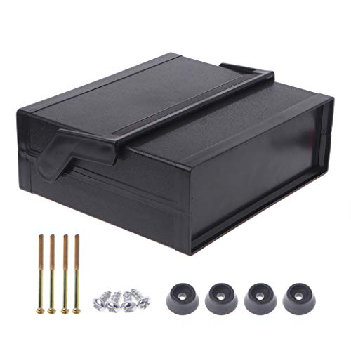 Kcnsieou Caja electrónica de plástico resistente al agua para proyecto, color negro, 200x175x70mm