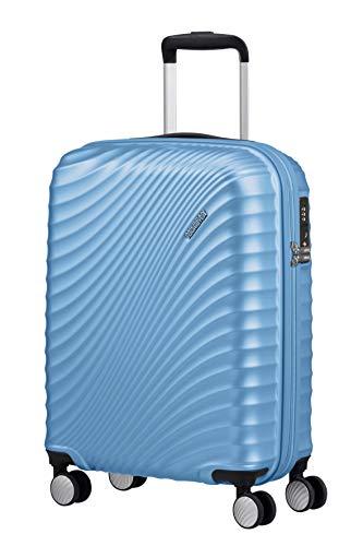 American Tourister Jetglam Maleta de Mano (55 cm, 35,5 L), Azul (Metallic Powder Blue)