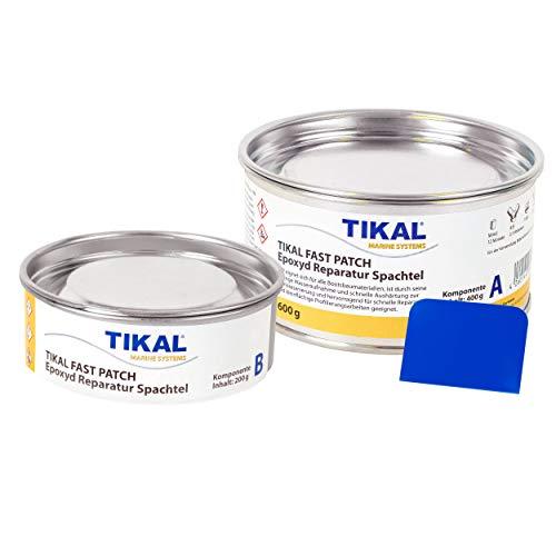 Tikal Fast Patch/Epoxidfüller/Epoxid Spachtelmasse   600 gr   Für über und unter Wasser, Unter anderem für Holz, Stahl, Aluminium