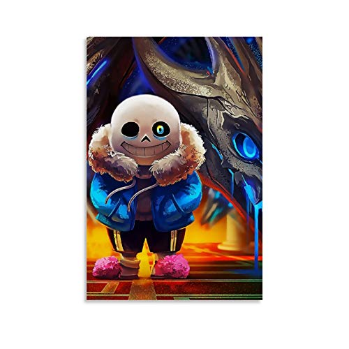 Qiguai Undertale Sans RPG Game 24 Nice Oil Painting Wall Art Picture and Canvas Art Poster Print Modern Family Bedroom Decor Posters 20x30inch(50x75cm)