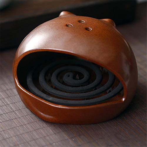 Coaste Cat Mosquito Coil Holder, Innovative Japanese Large Incense Burner, Home Mosquito Repellent Aromatherapy Stove Incense Burner