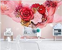 MAZF カスタム写真壁画3d壁紙モダンな手描きのバラの花の美しさの家の装飾壁のリビングルームの壁紙3d 250 cm(B)x 200 cm(H)