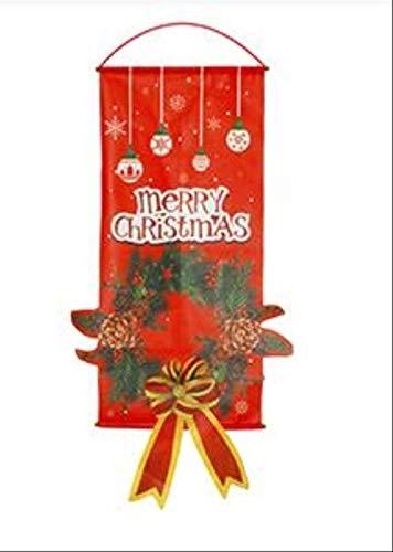 YMKCMC Decoración Navideña Decoraciones Navideñas para El Hogar Decoración De Puertas Adornos Colgantes Navideños Paño para Colgar Ventanas Regalos Navideños ProductosVerde del Ejército