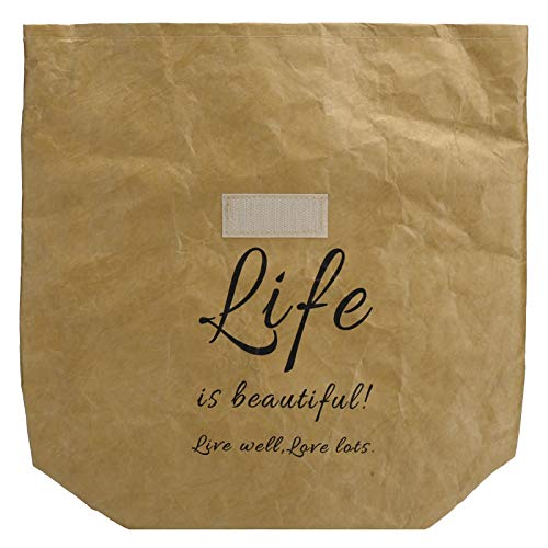 Bolsa de almuerzo, papel Kraft, película de aluminio, suministros de almacenamiento, bolsa de almuerzo, para gimnasia, verduras, frutas para autos(brown)