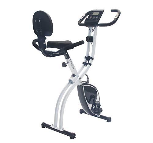 Nyana Fit | Bicicleta Estática Plegable Spinfold | Sillín Confort + Sujección | Resistencia Variable | Rodamientos Magnéticos | Nivel de Intensidad Variable | Altura Regulable | Pantalla Ordenador LCD