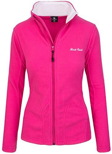 Rock Creek Damen Fleecejacke Fleece Jacke Übergangs Jacke Sweatjacke D-389 [Pink XXL]
