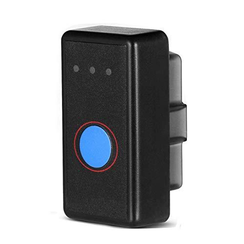 Smaier OBD2 Bluetooth 4.0, OBDII Mini Adapter sans-Fil Voiture Diagnostique Scanner Outil - Relier Via Bluetooth avec Téléphone (iPhone et Android) - 3000 Code Base de Données