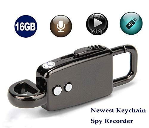 LemoVoz 8G Mini Wanze Sprach Aufnahme Kette versteckter Digitales Diktiergerät Spracherkennung---8 g bis zu 90 Stunden Kapazität, 24 Stunden Akkulaufzeit nach vollständiger Aufladung