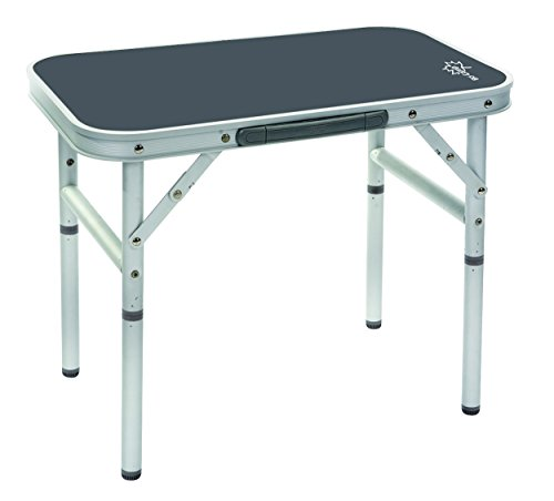Bo-Camp Campingmöbel BC Tisch, abnehmbare Füße, Aluminium, 34x 56cm, Grau