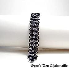 Handcrafted Vertebrae Chainmaille Bracelet – Gun Metal