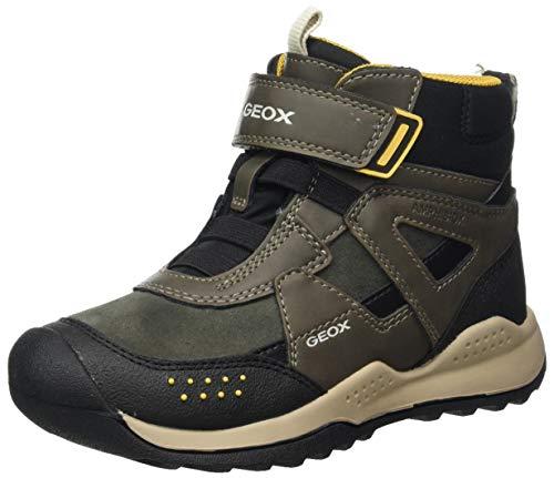 Geox J TERAM Boy B ABX B Rain Shoe, (Military/Dk Yellow), 32 EU