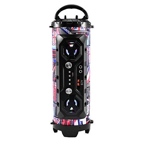 2021 Altavoz Bluetooth inalámbrico portátil Super Bass Radio estéreo Hi-Fi FM TF Reino Unido 2021 en stock
