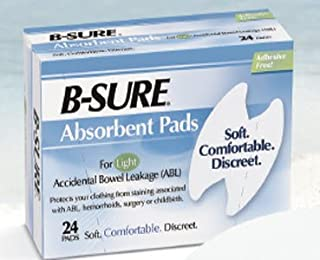 B-Sure Incontinence Liner, Heavy Absorbency One Size Fits Most Unisex Disposable, 14-7031-224 - Box of 24