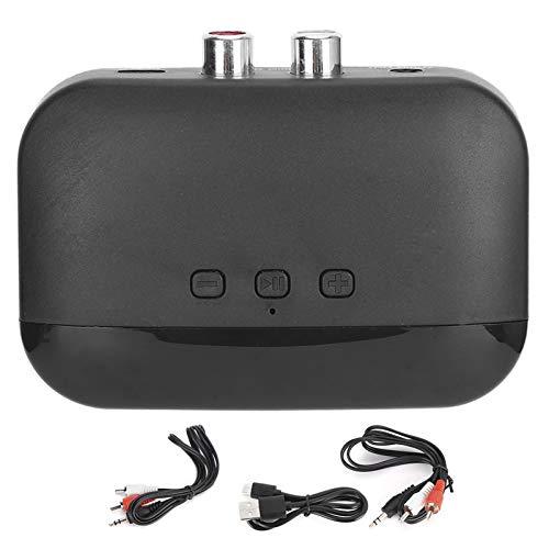 Socobeta Léger BT NFC Universel Portable Bluetooth 5.0 récepteur de Musique Support Multifonctionnel de Lecture de Carte de Stockage avec câble Audio de 3,5 mm
