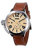 U-boat Classico Reloj para Hombre Analógico de Automático Suizo con Brazalete de Piel de Vaca 8071