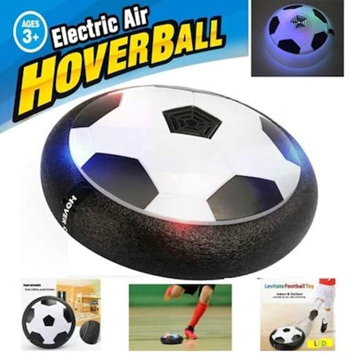 Hover Soccer Ball Kids Electric Football,with LED Lights and Music Foam Bumpers Indoors Outdoors Training Football with Parents Game As Hockey Ball Gliding Ball Kicking Play Ball (Pink)