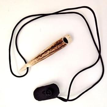 Corne de Cerf Corne Sifflet pour chien pour la formation ou chasse fait main Pistolet pour chien haute Pitch