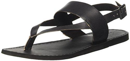 Timberland Carolista Ankle Thong, Sandali Donna, Negro Black Full Grain, 41.5 EU