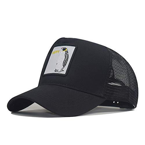 wopiaol Tierstickerei Netzkappe Baseballmütze Herren- und Damenhut Hip-Hop Hip-Hop-Mütze